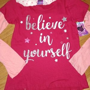 Other - NEW Girls Shirt w/ Matching Scarf 10/12